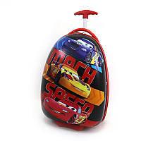 Детский чемодан дорожный на колесах Тачки Cars, фото 1