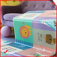 Детский складной двусторонний развивающий термо коврик для игр и ползания