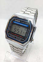 Часы мужские наручные электронные CASIO (Касио), серебристые ( код: IBW413S )