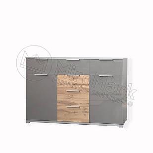 Комод Линц 2дв 6шх Серый Шифер-Дуб Вотан ТМ МироМарк