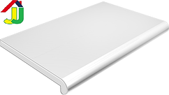 Подоконник Plastolit Белый Глянец 600 мм термостойкое покрытие, влагостойкий, устойчивый к царапинам, для окон