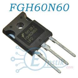 FGH60N60UFD, IGBT транзистор N Channel, 600В, 60А, TO247