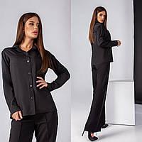 Жіноча ділова блуза з софту, фото 1