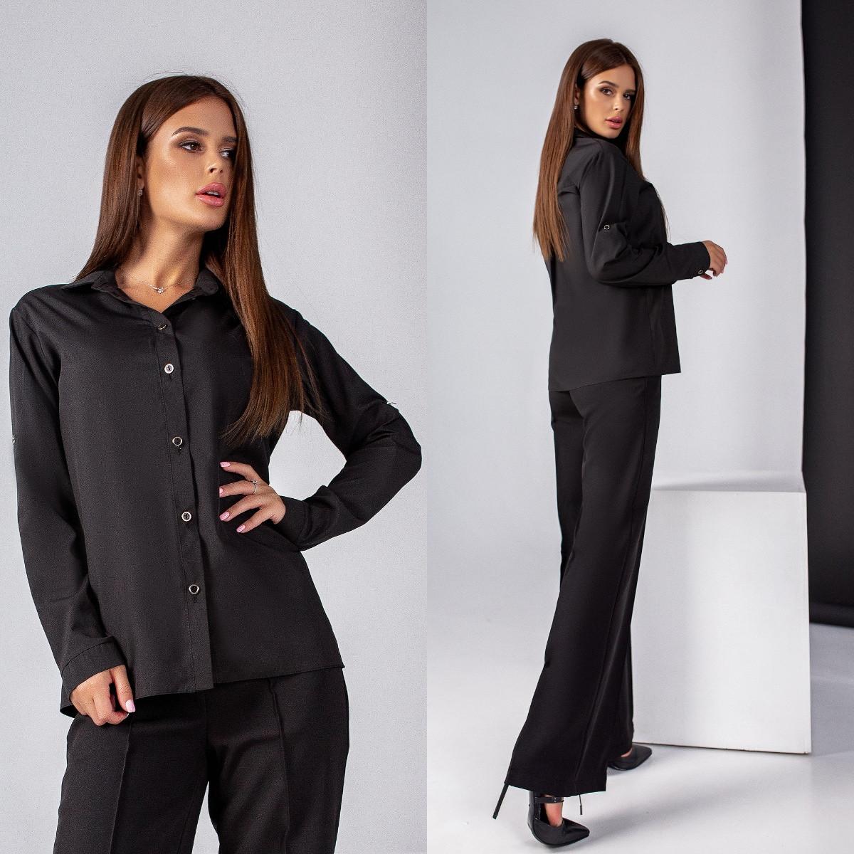 Жіноча ділова блуза з софту