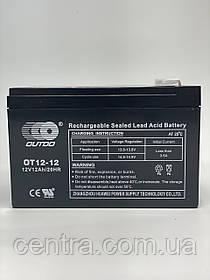 Гелевый аккумулятор OUTDO 12V-12Ah (12V12Ah/20HR) OT 12-12