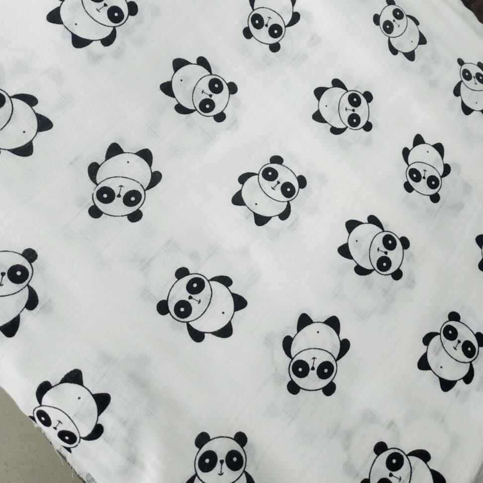 Муслиновая пеленка 125 Х 85 см Панда