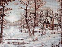 """Набор для вышивания крестом """"Luca-s""""  B321 Зимний пейзаж"""
