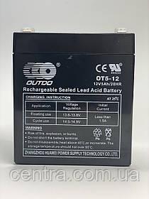 Гелевый аккумулятор OUTDO 12V-5Ah (12V5Ah/20HR) OT 12-5