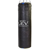 Мешок боксерский Цилиндр Кирза h-100см LEV UR (наполнит.-ветошь, d-28см,вес-35кг, черный)