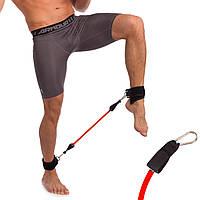 Латеральный амортизатор для ног (латекс, полиэстер, нагрузка 30LB, красный)
