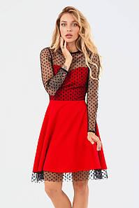 Жіноче червоне плаття в сіточку Amelia