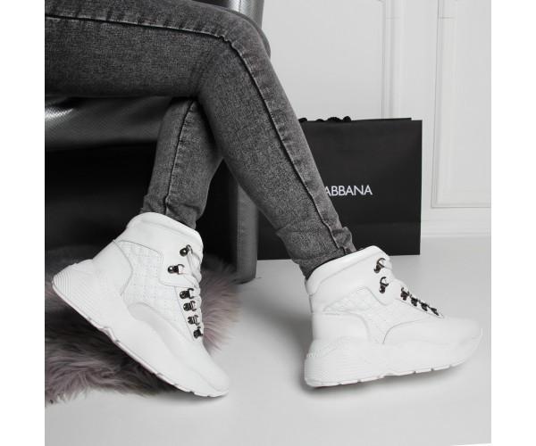 Белые женские кроссовки из натуральной кожи 39 р