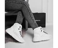 Белые женские кроссовки из натуральной кожи 39 р, фото 1