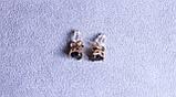 Сережки - сердечка Xuping (color ХР1016, 7мм Т0390 чорні), фото 3
