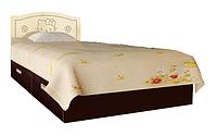 Кровать Вальтер Kiddy ваниль и темный орех