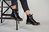 Женские черные кожаные демисезонные ботинки, фото 9