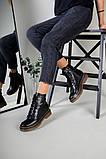 Женские черные кожаные демисезонные ботинки, фото 8