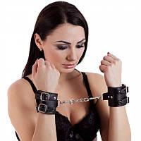 Кожаные наручники цепи для БДСМ Hand CuffS подарок любимому человеку настоящая игрушка для секса