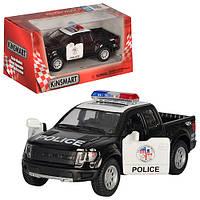Машинка Ford Raptor Police полиция 150 1:32 метал черный