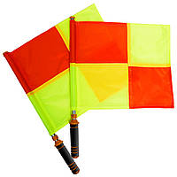 Комплект судейских флагов (футбольного арбитра) 2шт (полиэстер, l-53см, р-р 39х33см, PL чехол)