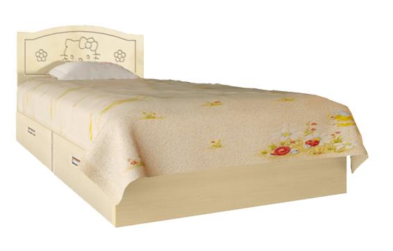 Ліжко Вальтер Kiddy ваніль і світлий венге