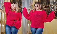 Вязаный свитер больших размеров