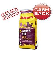 Josera Lamb and Rice 15 кг - Корм для взрослых собак с ягненком и рисом, фото 1