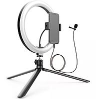 Набор блогера Gelius Blogger Set Life Hack GP-BS001 (Led кольцо + микрофон + tripod + держатель для телефона), фото 1