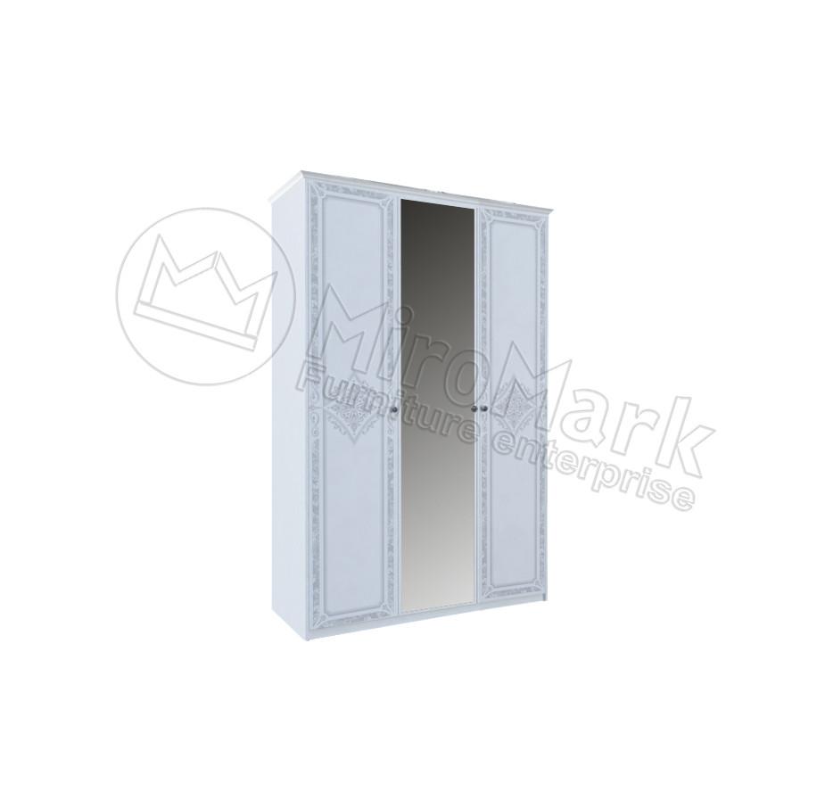 Шкаф Луиза 3 дв Белый глянец ТМ МироМарк