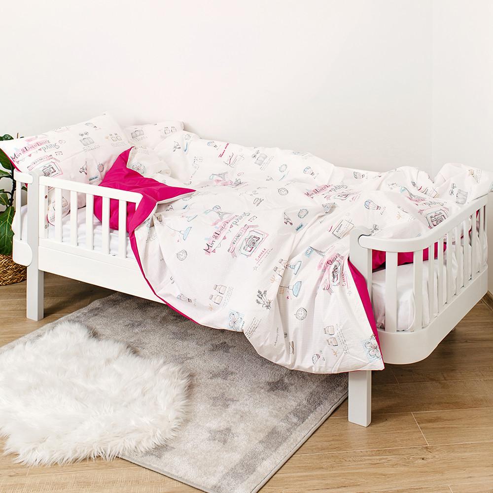 Полуторное постельное белье Twins Paris pink 3 эл