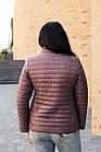 Осенняя женская куртка больших размеров - модель 2020- (кт-491), фото 2