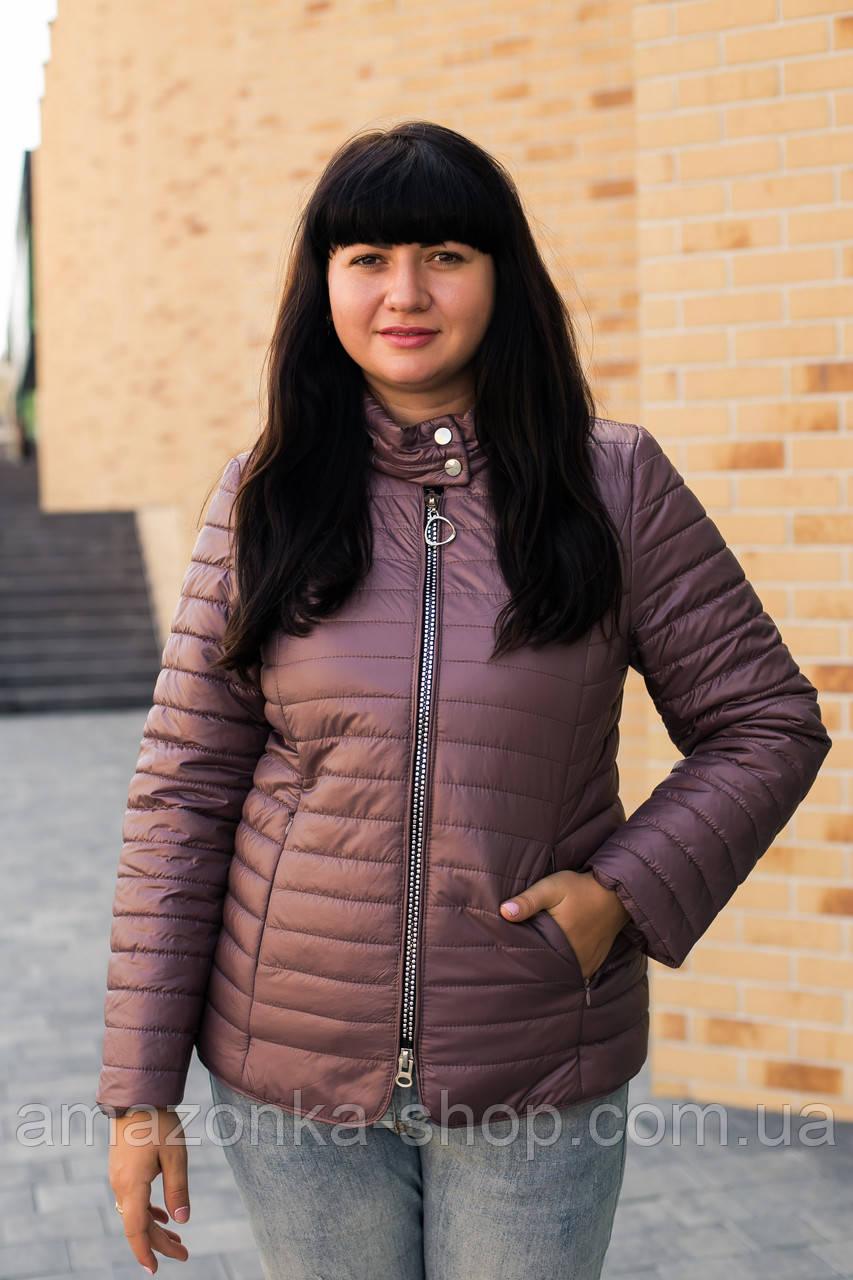 Осенняя женская куртка больших размеров - модель 2020- (кт-491)