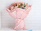 Крафт бумага двухсторонняя в листах нежно розовая, фото 2