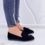ТОЛЬКО  на 24,5 см! Женские черные лоферы-балетки эко-замш, фото 2