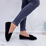 ТОЛЬКО  на 24,5 см! Женские черные лоферы-балетки эко-замш, фото 7