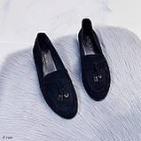 ТОЛЬКО  на 24,5 см! Женские черные лоферы-балетки эко-замш, фото 9