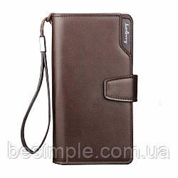 Мужское портмоне Baellerry Business / Мужской кожаный кошелек Коричневый