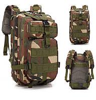 Тактичний, похідний рюкзак Military. 25 L. Камуфляжний, піксель, мілітарі. / T414