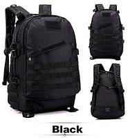 Тактичний, похідний рюкзак Military. 30 L. Чорний, мілітарі. / T402