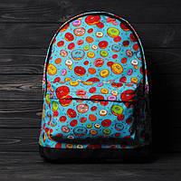 Хит! Стильный рюкзак с принтом Пончики. Для путешествий, тренировок, учебы