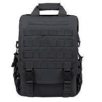 Тактична сумка-рюкзак, месенджер, портфель. Чорний