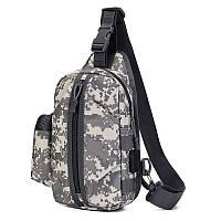 Тактическая сумка-рюкзак, барсетка, бананка на одной лямке, пиксель. T-Bag 448, фото 1