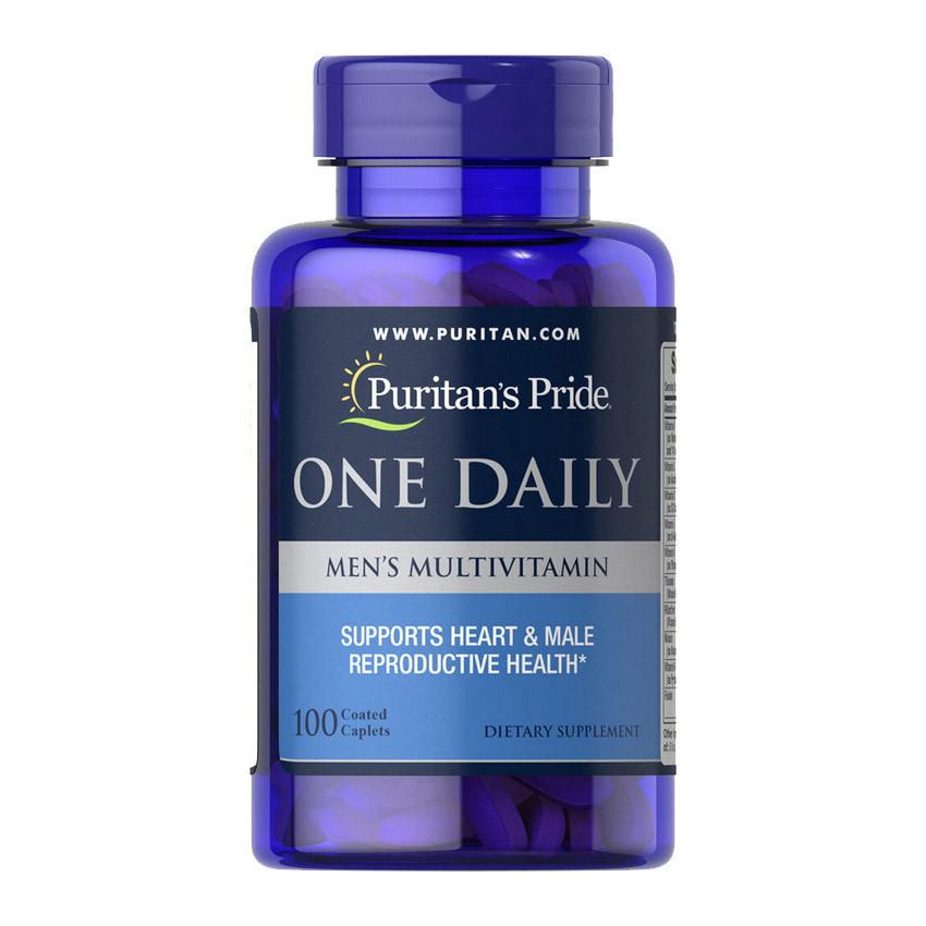 Витамины для мужчин Puritan's Pride One Daily Men's Multivitamin 100 caplets