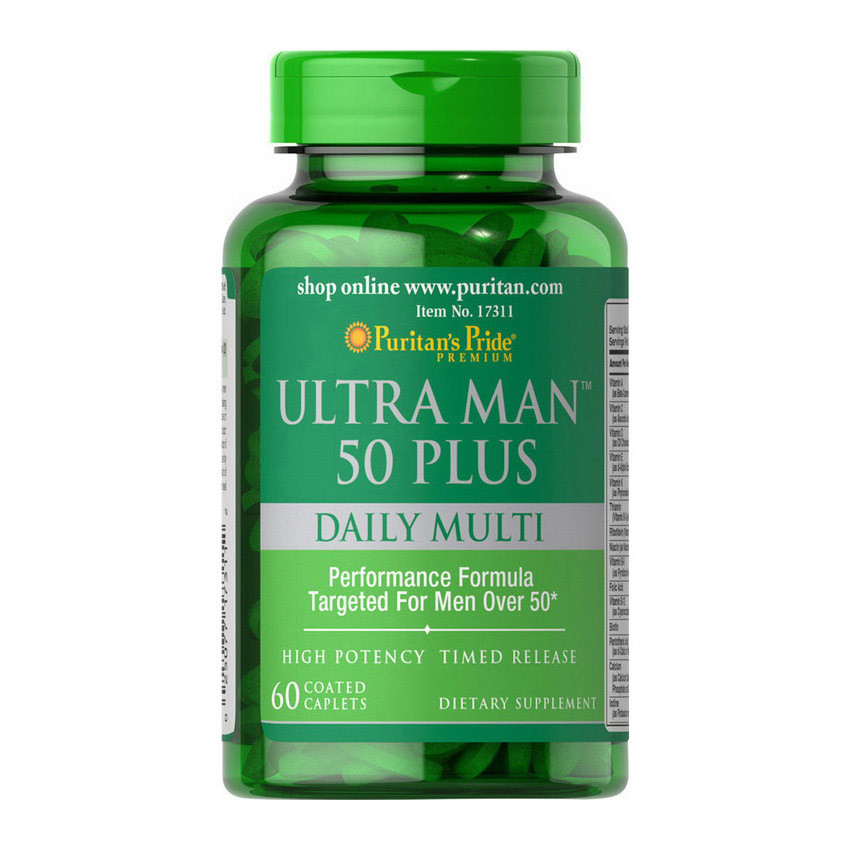 Витамины для мужчин старше 50 лет Puritan's Pride Ultra Man 50 Plus 60 caplets