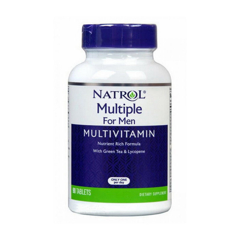 Вітамінно-мінеральний комплекс для чоловіків Natrol Multiple For Men With Green Tea & Lycopene 90 tab