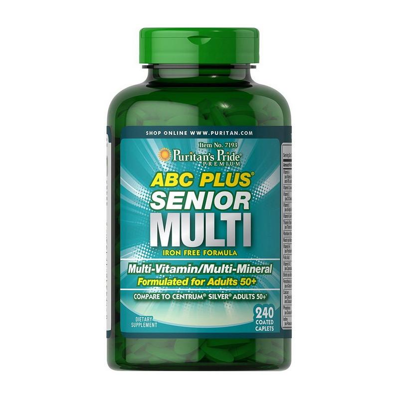 Комплекс витаминов для мужчин старше 50 лет Puritan's Pride ABC Plus Senior Multi 240 caplets