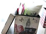 """Банкетка - пуф органайзер складной Тауэрский мост"""" 30*30*32 см, фото 5"""
