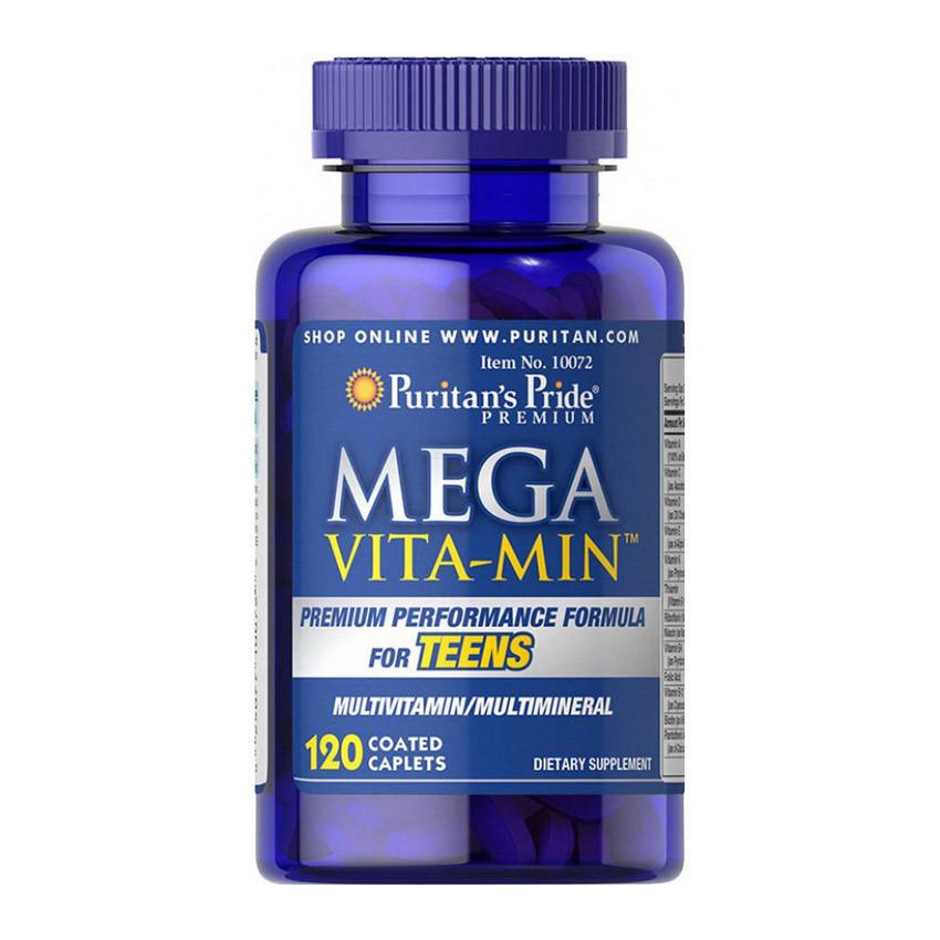 Витамины для подростков Puritan's Pride Mega Vita Min Multivitamins for Teens 120 caplets