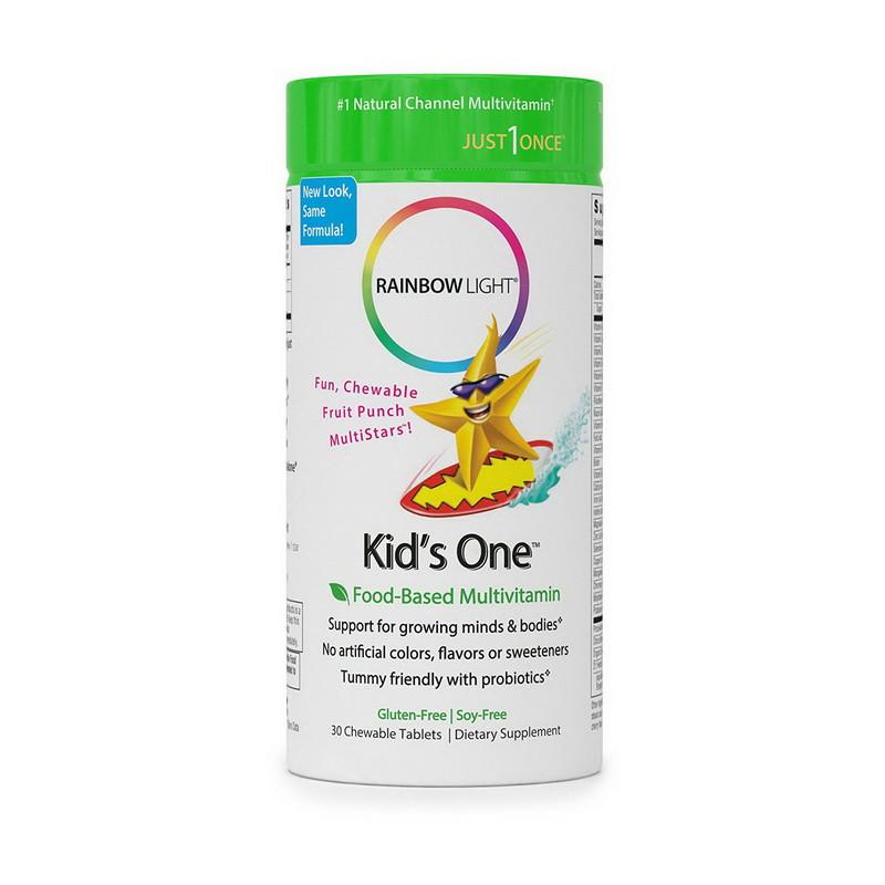 Комплекс витаминов для детей Rainbow Light Kid's One 30 chew tabs жевательные