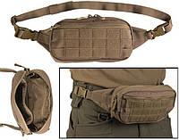 Тактическая сумка-бананка Mil-tec MOLLE койот, фото 1